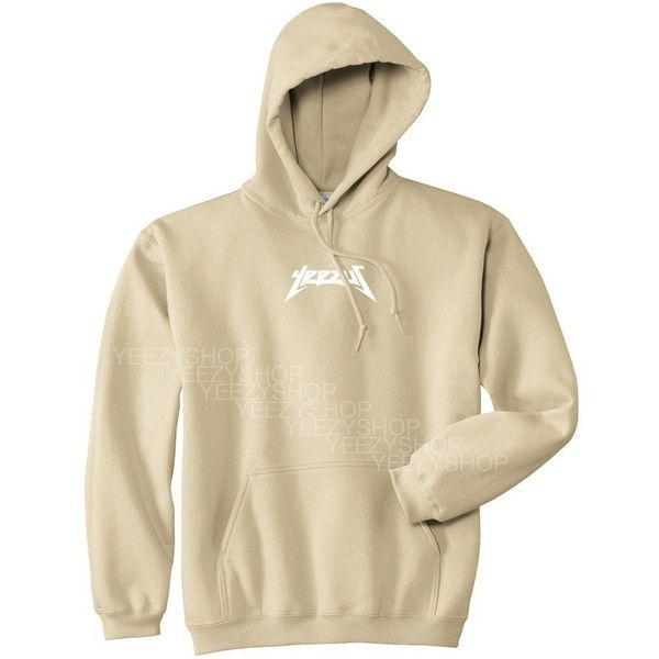 Mars NY Unisex Yeezus Kanye West Hoodie ($29) ❤ liked on Polyvore featuring tops, hoodies, hoodie top, brown hoodies, sweatshirt hoodies, unisex tops and unisex hoodies