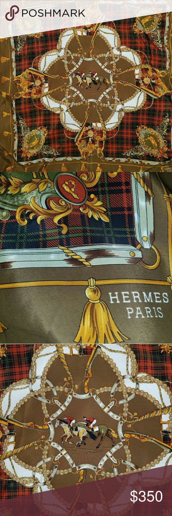 Vintage Hermes Hunt Silk Scarf This Hermes scarf is hard to find in this like new vintage condition. This scarf is a true classic. Please ask questions. Hermes Accessories Scarves & Wraps