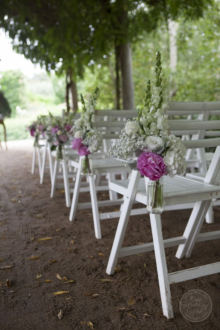 Aisle chair styling | Rustic garden themed wedding | Alowyn Gardens, Yarra Glen | Concepts & Styling by One Wedding Wish