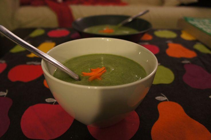 Prefiero bollitos: Crema de brócoli y espinacas
