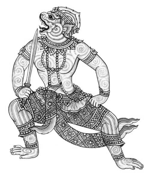 Cambodian Hanuman Tattoo 57 best images about T...