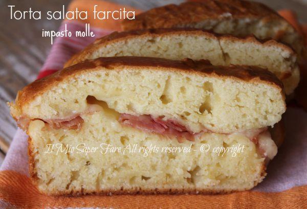 Torta salata impasto molle farcita :una rustica torta salata gustosa,ricca e veloce da realizzare.Basta unire e mescolare gli ingredienti.Senza lievitazione
