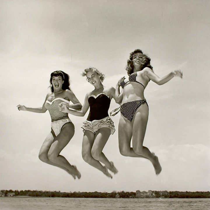 vintage girl jump - Google Search