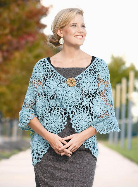 Ravelry: Chic Motif Cape pattern by Lisa Gentry