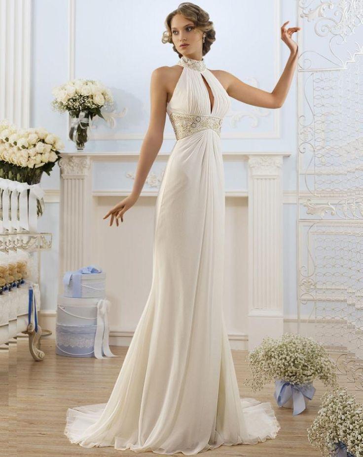 4f684c1ce86c49d5d5a8cd8bfd247682  halter neck high neck - Halter Neck Wedding Dress