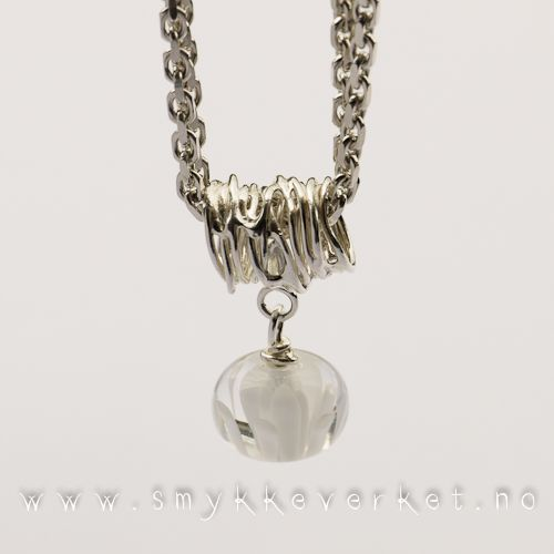 Lampwork by Paulbeads, silver by Smykkeverket