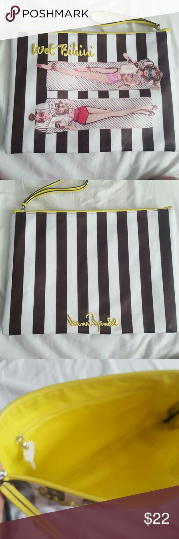 Henri Bendel Wet Bikini Bag Like new condition Only used once Small pink stain (shown in picture) henri bendel Bags Clutches & Wristlets