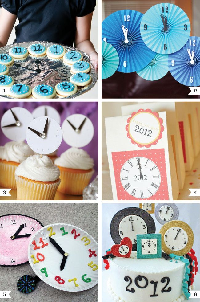 New Year's Eve clock ideas on http://www.chickabug.com/blog