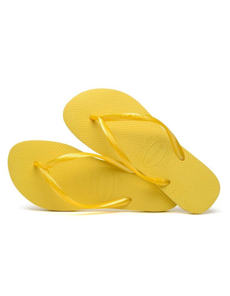 Havaianas | Yellow Neon H Slim Flipflops | Accent Clothing