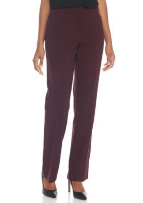 Kim Rogers Women's No Gap Fashion Pants - Deep Cabernet - 12 Average