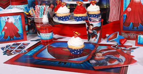 BOUGHT.Super man party supplies at birthday direct