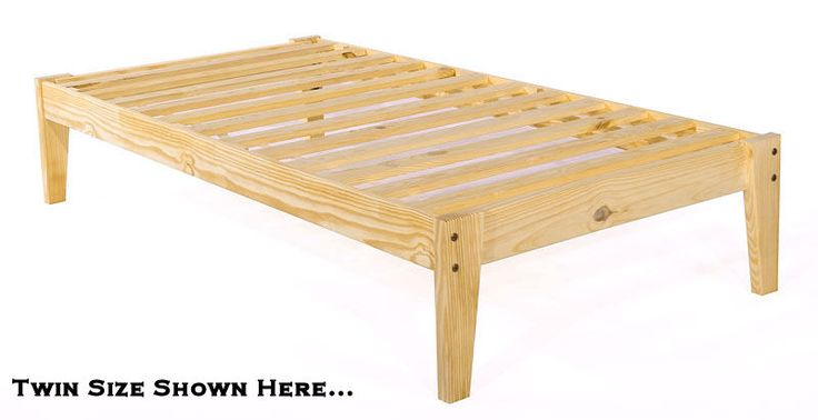 Platform Twin Bed Frame Xl Pine Wood Extra Long Room Doctor Zander Pinterest And