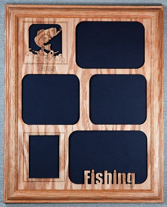 11x14 Bass Fishing Picture Frame and Mat by StansGifts on Etsy, $39.95