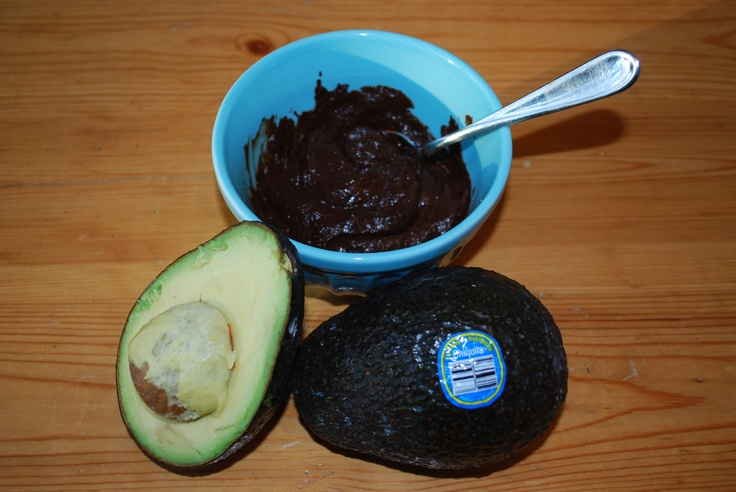 Chocolate pudding... made with avocados! That's right... it's good for you! :) The recipe is from Deceptively Delicious by Jessica Seinfeld- its rich and chocolatey and Graham didnt have a clue it was avocados