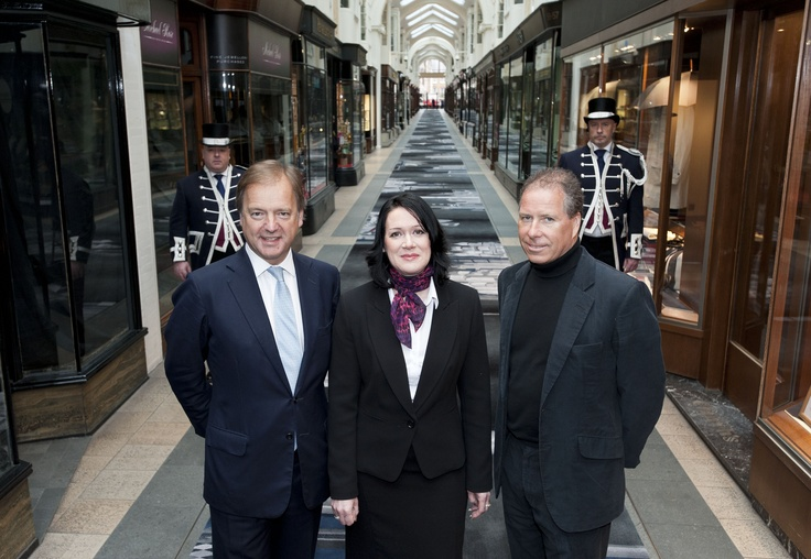 The Rt Hon Hugo Swire MP, Emma Fletcher (Global Commercial Sales Director, Brintons) & David Linley (founder, LINLEY)