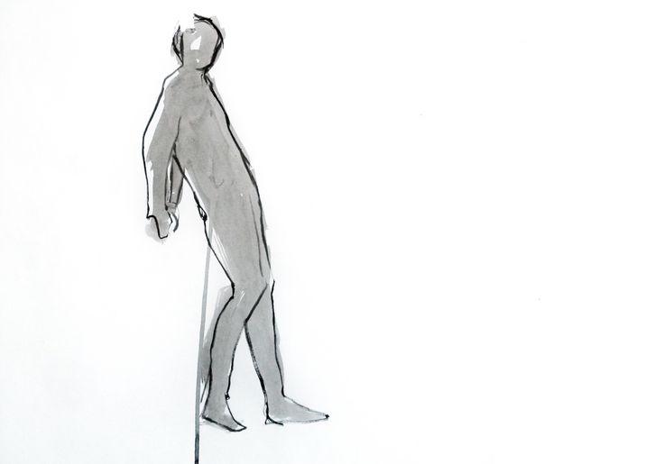 Carlota Martinez. Tinta-da-china s/ papel, 42 x 59,4 cm