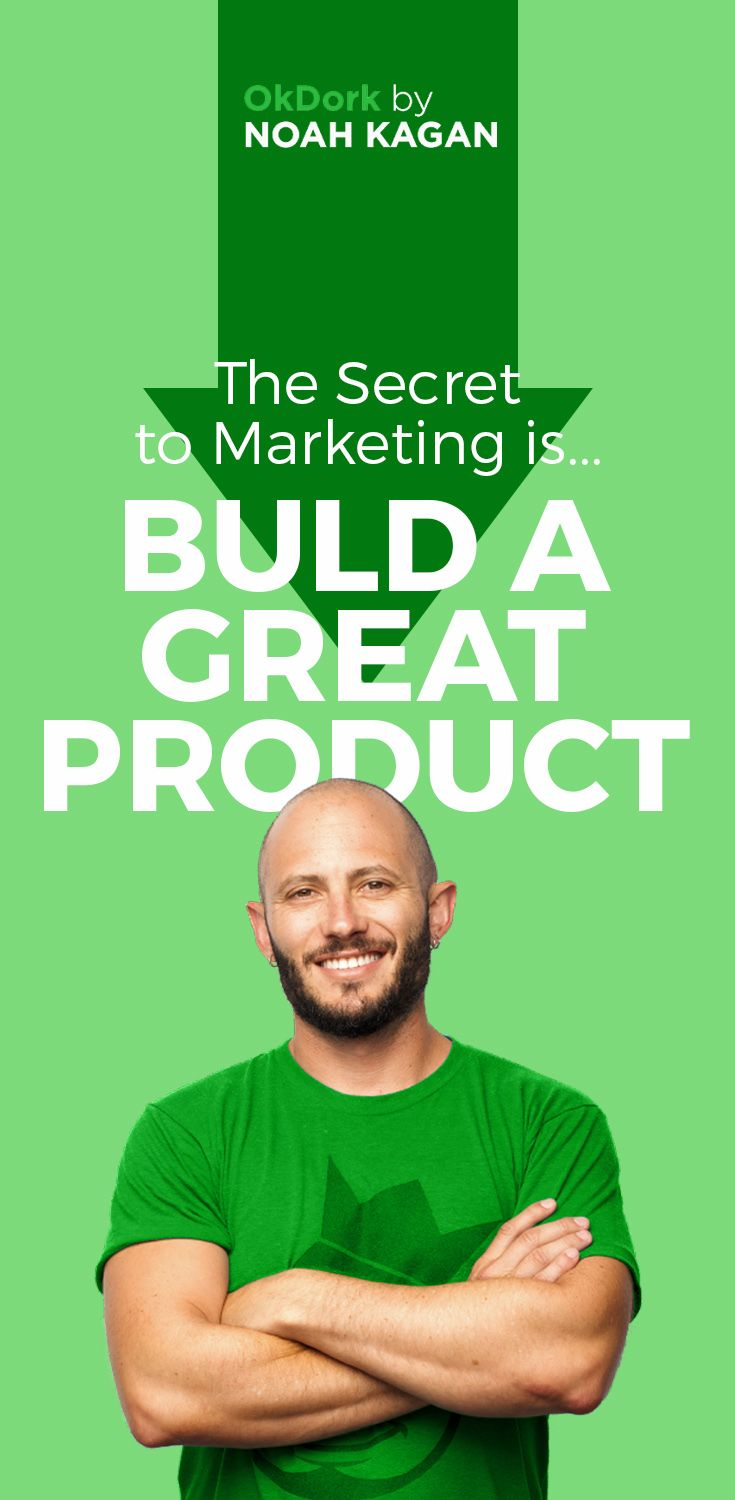 The secret to marketing is... build a great product! #marketing