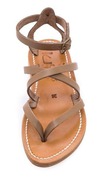 Crisscross sandals. Love.