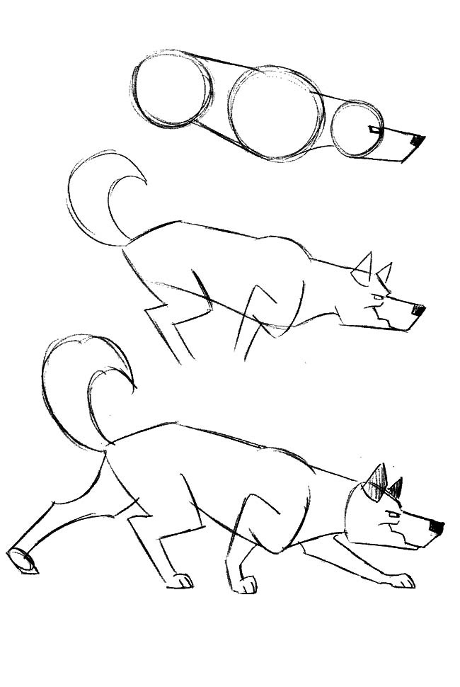 Another simple set of instructions on how to draw dogs.