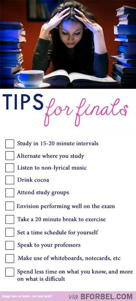 Tips for Finals