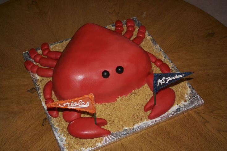 """Crab """"Cake"""": Cakes Cupcake Ideas, Crabs Feast, Happy Birthday, Cakes Ideas, Crab Cakes, Crabs Birthday Cakes, Crabs Shape Cakes, Crabs Cakes, Crabs Parties"""