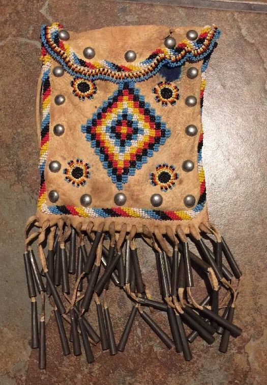 Apache Beaded Bag Native American Indian