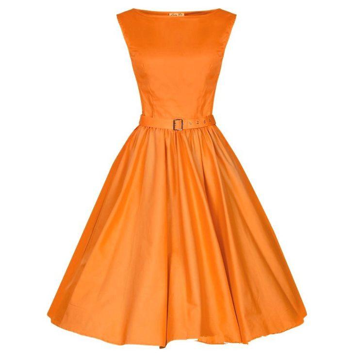 Orange Belted Vintage Dress