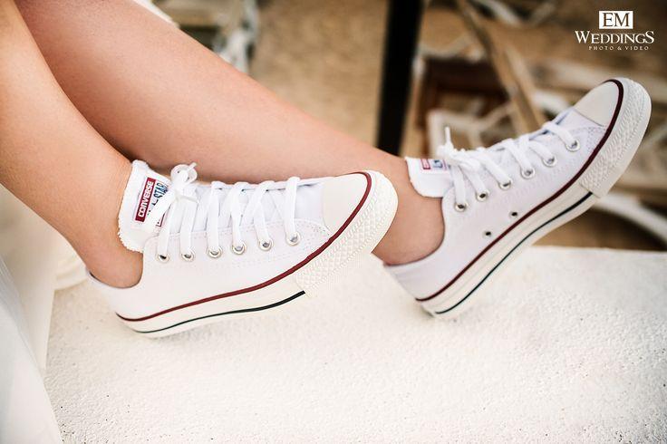 Wedding Shoes Bride #converse #emweddings #destinationweddings