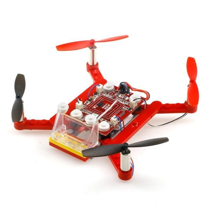 3D Building Block Quadcopter DIY Bricks Mini Drones Diy Toys For Kids Rc Assembled Model Drone Building Kits Educational Toy //Price: $27.88//     #onlineshop #quadcopterdiy