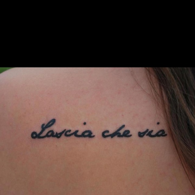 Italian Tattoo Quotes English Translation: Best 25+ Let It Be Tattoo Ideas On Pinterest