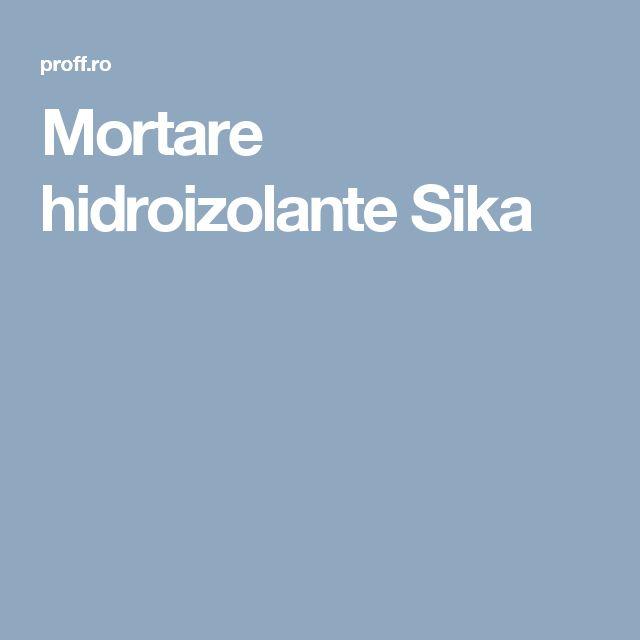 Mortare hidroizolante Sika