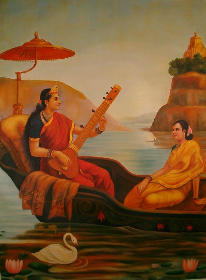 Sultan: recalling Raja Ravi Varma? Sarasvati