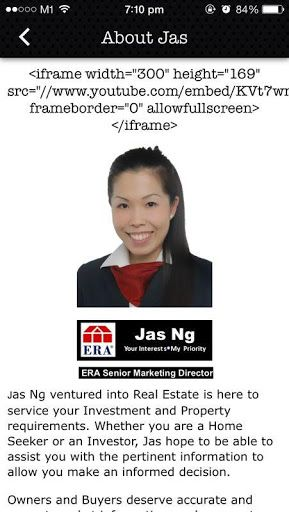 The Official Jas Ng App On The Go is FREE for Investors, Sellers, Buyers, Landlords or Tenants. Now you can stay updated with her Latest Updates, Latest Property Launches, Social Media, Property News anywhere you are. A One-Stop Solution App for All! Each time you need a Singapore Property Agent, you know Jas Ng is just one click away on your mobile device. It's like having your own Personal Real Estate Advisor 24/7. :)<p>Jas Ng is one of the Successful Millennial Generation that has proven…