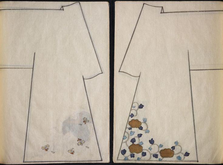 Tesori d'archivio: due antichi libri giapponesi sulle decorazioni dei Kimono - Frizzifrizzi