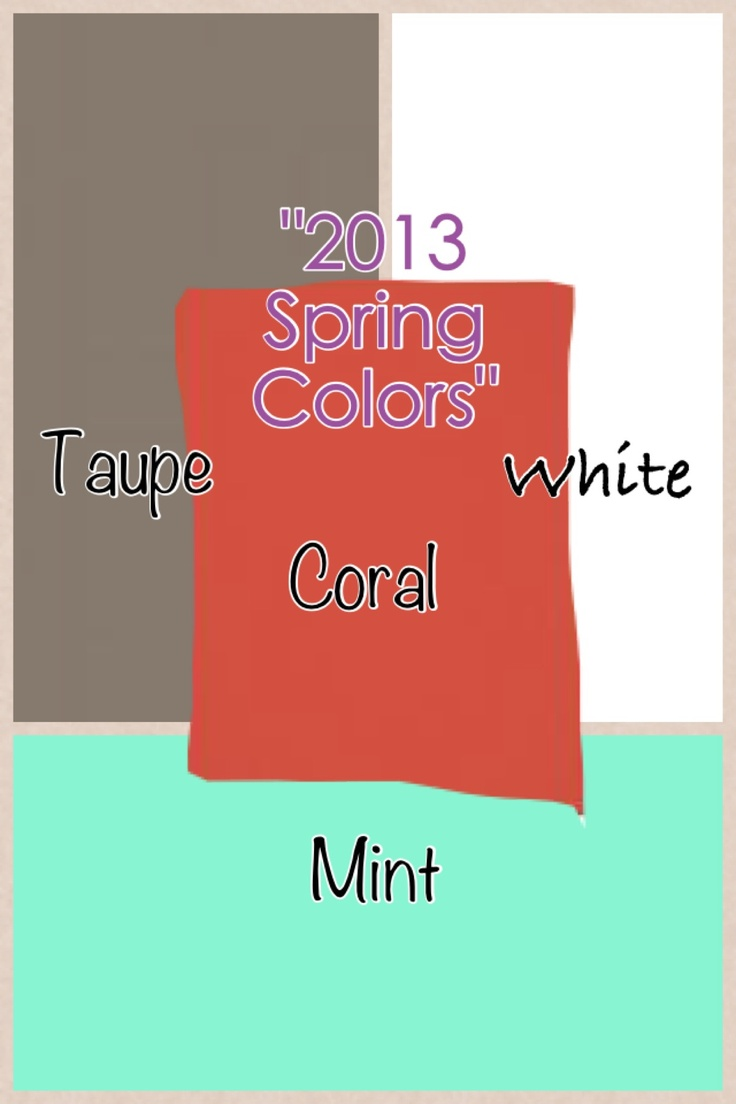 Spring color pallete for this 2013!! For an amazing living room makeover or bedroom or restroom.. Or why not all of your house.. Use this to guide you into achieving the spring feel in your house..