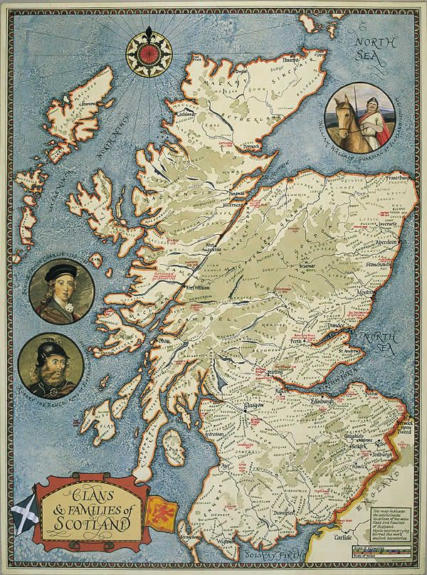 Clan Map of Scotland Stark of Clan