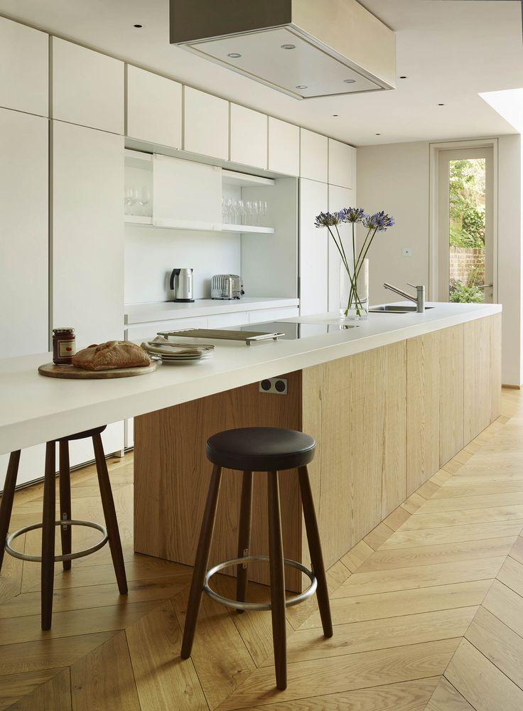 Bulthaup keuken, Hongaarse Punt, Chevron flooring, Inspiratie BVO Vloeren, houten vloeren en parket