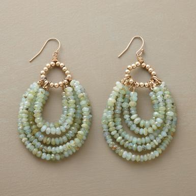 Beaded loop earrings @ Sundance - sold out. I can make something similar to these,  I'm on facebook Elegant Mayhem.