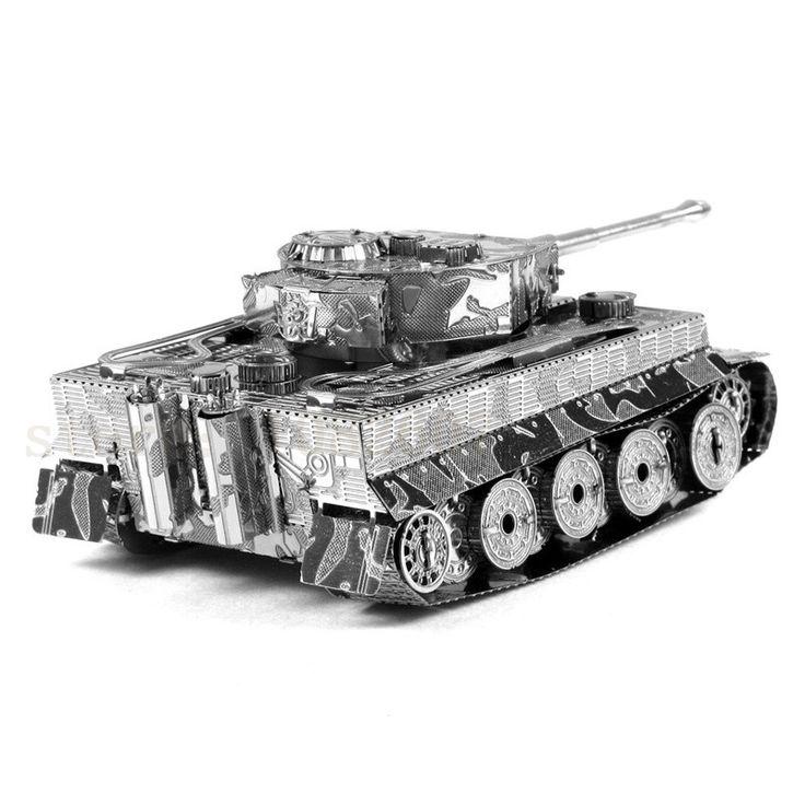 2016 La Venta Caliente Del Tanque Del Tigre 3D Miniatura de Metal Modelo de Rompecabezas 3D sólido jigsaw puzzle juguetes para los niños envío gratis niños diy artesanía