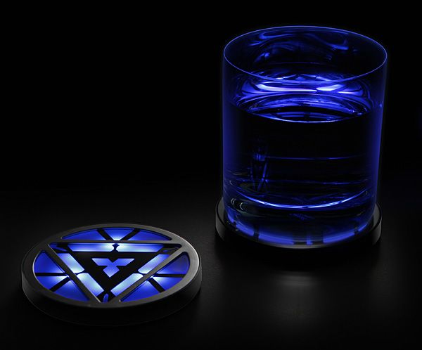 Iron Man Arc Reactor Lighted Coasters http://stuffyoushouldhave.com/iron-man-arc-reactor-lighted-coasters/