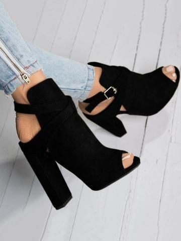 Peep Toe Buckle Girls Vogue Sandals Excessive Heels Sneakers