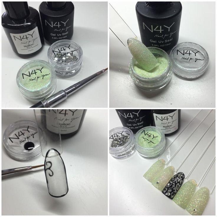 Nail art glitter, see more nail art designs with nail glitter
