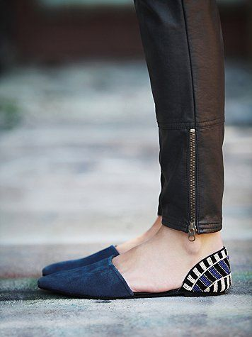 Geometric Blue Suede Loafer