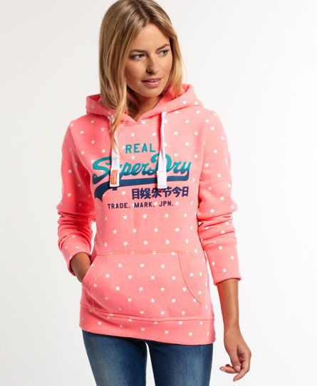 Superdry Vintage Logo All Over Print Hoodie