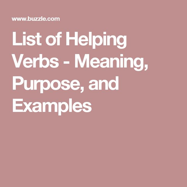 List of Helping Verbs - Meaning, Purpose, and Examples