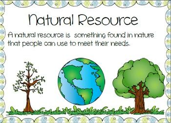 Natural resources vs man made posters green 14 and colors for Meaning of soil resources