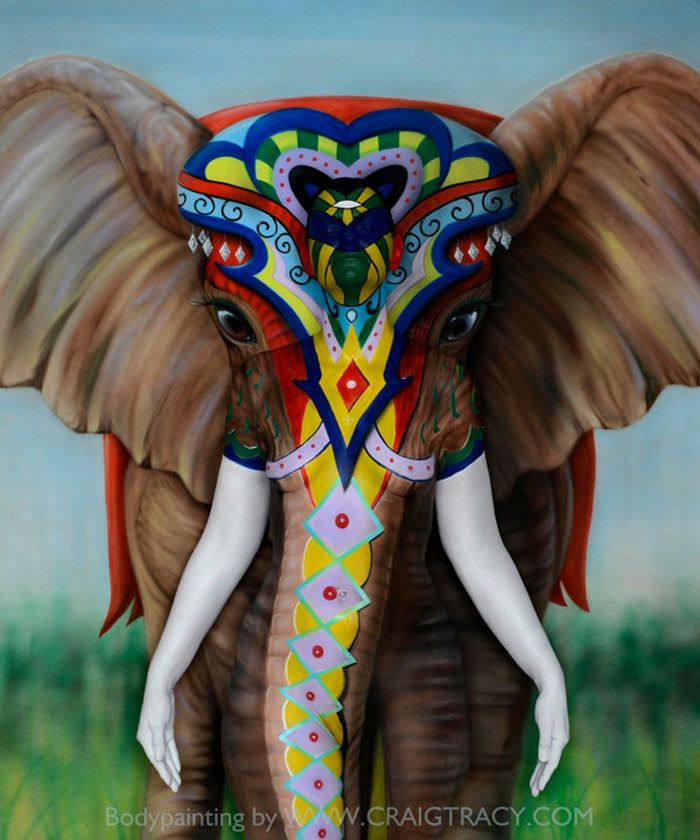 chic-Elephant-Body-Painting-Craig-Tracy