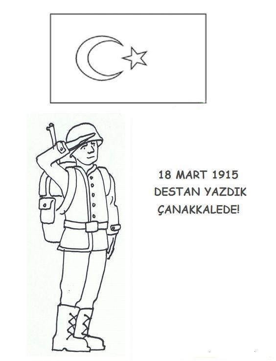 En Iyi 18 Mart Canakkale Haftasy Boyama Hedef Ust Ev Boyama Sayfasi