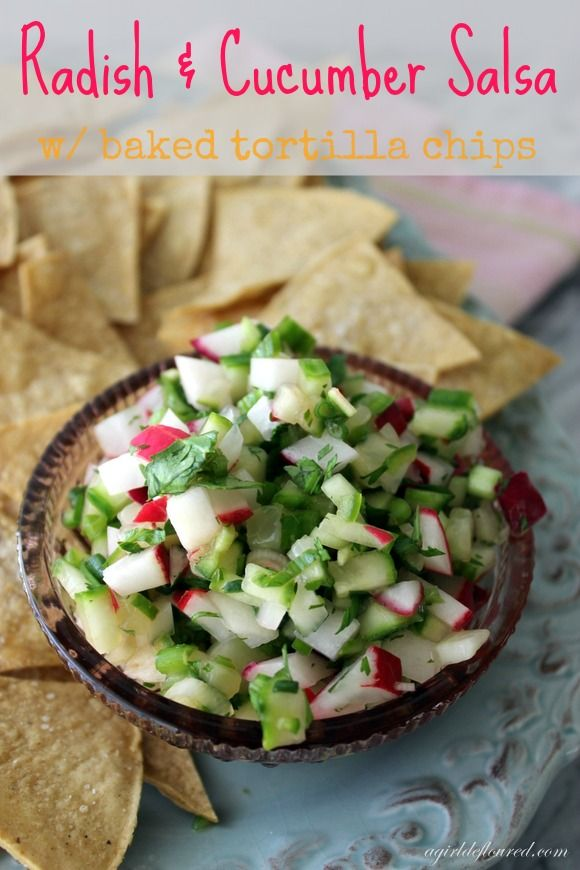 Radish and cucumber salsa is a superfood addition to a summer BBQ!