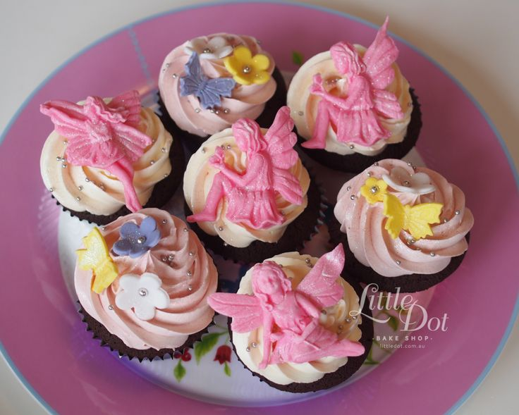 Little Dot Flower Fairy Cupcakes